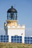 灯塔关闭的太阳 免版税库存照片