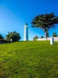 灯塔和别动队员驻地, Tiritiri Matangi海岛,新西兰 免版税库存照片