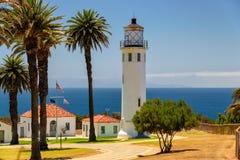灯塔和棕榈,洛杉矶,加利福尼亚 图库摄影