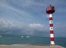 灯塔在三亚,海南在中国 免版税库存图片