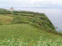 灯塔在亚速尔群岛 免版税库存图片
