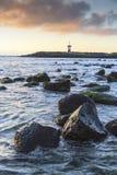 灯塔在加拉帕戈斯群岛 库存照片