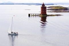 灯塔在挪威 免版税图库摄影