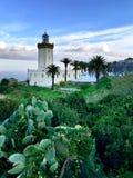 灯塔在摩洛哥 免版税库存图片