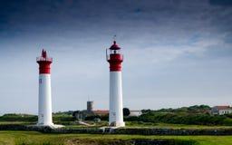 灯塔在法国海岛(夏朗德省、法国,欧洲) 库存照片