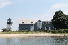 灯塔在海尼斯港,马萨诸塞 免版税库存图片