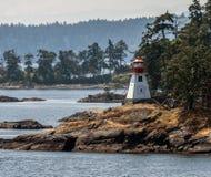 灯塔在温哥华岛 库存照片