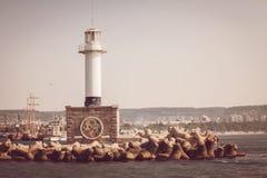 灯塔在瓦尔纳,保加利亚 免版税库存图片