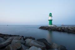灯塔在罗斯托克Warnemunde 免版税库存照片