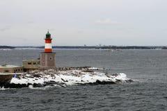 灯塔在芬兰群岛,赫尔辛基 免版税库存图片