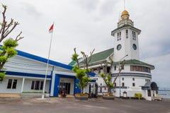 灯塔在苏拉巴亚,印度尼西亚 库存图片