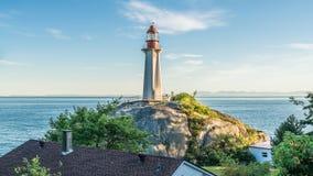 灯塔在西温哥华,不列颠哥伦比亚省,加拿大 库存照片