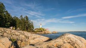 灯塔在西温哥华,不列颠哥伦比亚省,加拿大 图库摄影