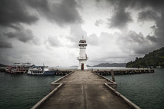 灯塔在酸值张海岛,泰国 库存照片