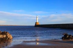 灯塔在阿伯丁,苏格兰 库存照片
