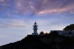 灯塔在阿利坎特 库存照片