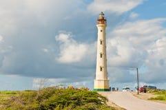 灯塔在阿鲁巴 库存照片