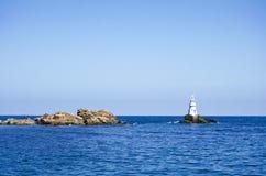 灯塔在黑海 库存照片