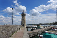 灯塔在Desenzano del加尔达 库存图片