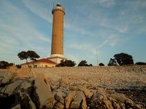 灯塔在Dugi Otok 免版税库存照片