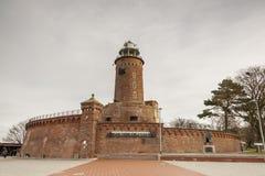 灯塔在Kolobrzeg -波兰。 图库摄影