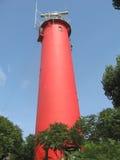 灯塔在Krynica Morska波兰 库存图片