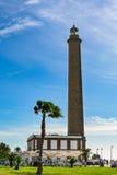 灯塔在Maspalomas (法鲁de Maspalomas)盛大金丝雀的(大加那利岛) 图库摄影