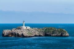 灯塔在Mouro海岛 免版税库存图片