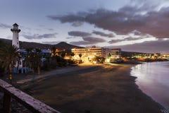 灯塔在Playa del Aguila 图库摄影