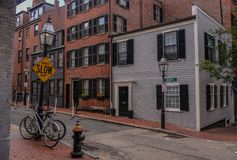 灯塔山区在波士顿 免版税库存照片