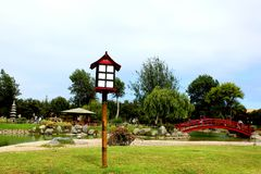 灯塔日本人庭院 库存图片