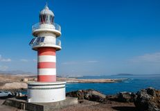 灯塔法鲁de Arinaga,大加那利岛 免版税库存图片