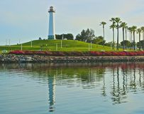 灯塔点长滩加利福尼亚 库存照片