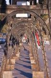 灯塔的功率网格基础设施 免版税库存照片
