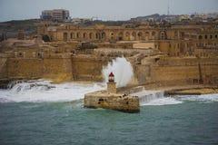 灯塔的看法在堡垒里内拉的 库存照片