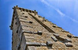灯塔的细节-盖帽Frehel,布里坦尼,法国 免版税图库摄影