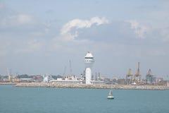 灯塔科伦坡斯里兰卡港口 免版税库存照片