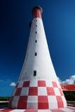 灯塔红色白色 免版税库存照片