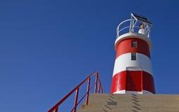 灯塔红色白色 库存图片