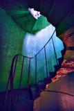 灯塔老螺旋形楼梯 库存照片