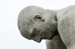 灯塔雕塑海运石头 免版税库存照片