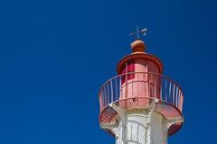 灯塔顶层 免版税库存图片