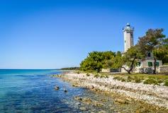 灯塔,亚得里亚海,克罗地亚 免版税库存照片