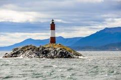 灯塔,小猎犬海峡,阿根廷 免版税库存图片