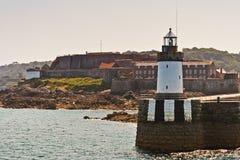 灯塔,根西岛 免版税库存照片