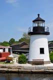 灯塔,神秘的海口 免版税库存图片