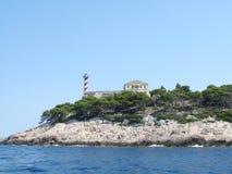 灯塔,缘膜塞斯特里卡-科纳提群岛 免版税库存图片