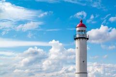 灯塔,荷兰上面  免版税库存照片