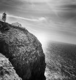 灯塔:cabo圣维森特,阿尔加威 葡萄牙 免版税图库摄影