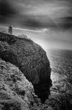 灯塔:cabo圣维森特,阿尔加威 葡萄牙 图库摄影